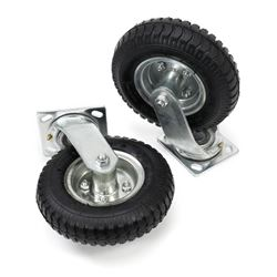 "10"" CASTER WHEEL SET AIR TIRE"