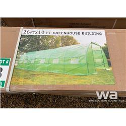 26 X 10 FT. METAL FRAME GREEN HOUSE