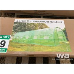 26 X 10 FT. METAL FRAME GREEN HOUSE