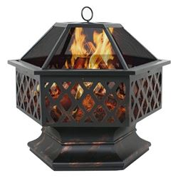 HEX SHAPE OUTDOOR FIRE PIT