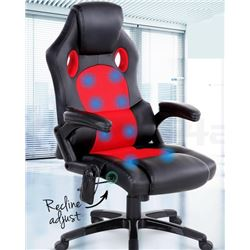 RED & BLACK OFFICE MASSAGE CHAIR