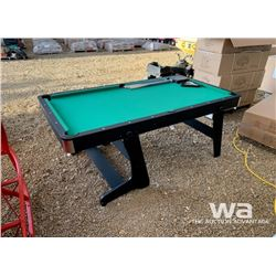 6 FT. FOLDING POOL TABLE & ACCESSORIES