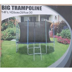 14 FT. TRAMPOLINE WITH SAFTEY NET & LADDER
