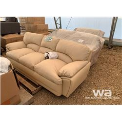 (3) PIECE LEATHER SOFA, LOVESEAT & CHAIR