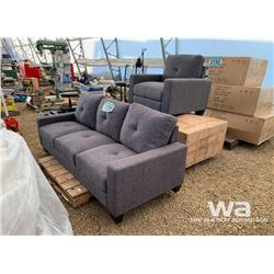 (3) PIECE SOFA, LOVESEAT & CHAIR