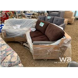 (2) PIECE CURVED SECTIONAL