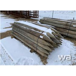 (32) 7 FT. TREATED FENCE POSTS