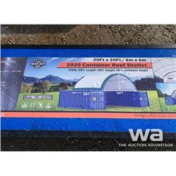 ROUND CONTAINER 20 X 20 FT. ROOF SHELTER