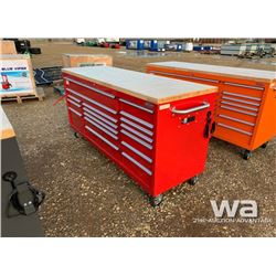 RED FAT BOY 2 X 6 FT. 17 DRAWER WORK BENCH