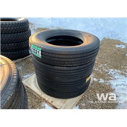 (4) GRIZZLY 11R24.5 TRUCK STEERING TIRES