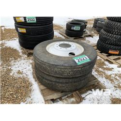 (2) IRONMAN 1-601 11R24.5 TRUCK TIRES & RIMS