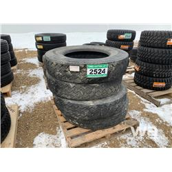 (4) UNIROYAL RD30 11R24.5 TRUCK TIRES