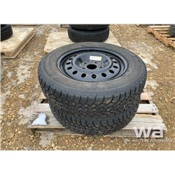 (2) GOODYEAR NORDIC 225/65R17 TIRES