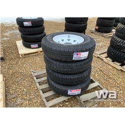 (4) 235/80R16 TRAILER TIRES & RIMS