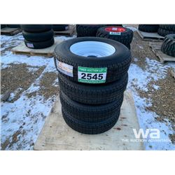 (4) 225/75R15 TRAILER TIRES & RIMS
