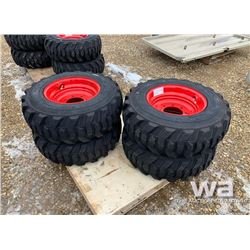 (4) 12X16.5 SKID STEER TIRES & RIMS