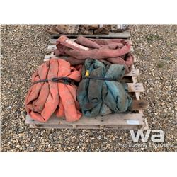 PALLET OF SLINGS & TOW ROPES