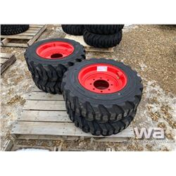 (4) 10X16.5 SKID STEER TIRES & RIMS