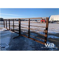 (2) FREESTANDING 6 X 16 FT. LIVESTOCK PANELS WITH 8 FT. GATE
