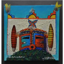 TAOS PUEBLO INDIAN PAINTING (DAVID GARY SUAZO)