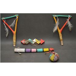 HOPI INDIAN CHILD'S DANCE ITEMS