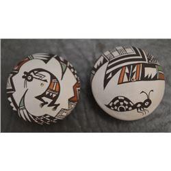 ACOMA INDIAN POTTERY SEED JARS (CAROLYN CONCHO)