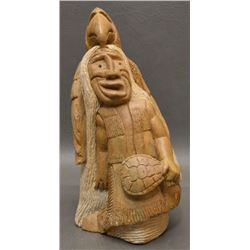 IROQUOIS INDIAN STONE SCULPTURE (CLEVELAND SANDY)
