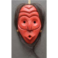 IROQUOIS INDIAN WOODEN FALSE FACE MASK