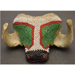 ZUNI INDIAN BEADED HEAD