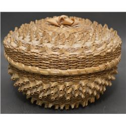 MICMAC INDIAN LIDDED  BASKET