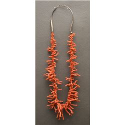 PUEBLO INDIAN BRANCH CORAL NECKLACE