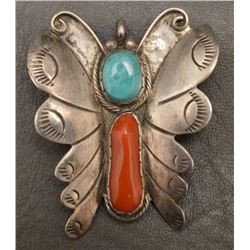 NAVAJO INDIAN PIN/PENDENT (RAY TRACEY)