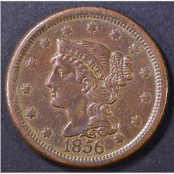 1856 SLANT 5 LARGE CENT AU