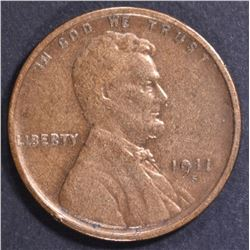 1911-S LINCOLN CENT XF