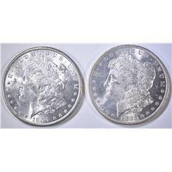 1883-O & 1900 MORGAN DOLLARS CH BU