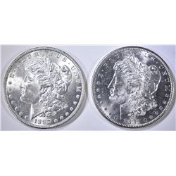 1881-S & 87 MORGAN DOLLARS CH BU