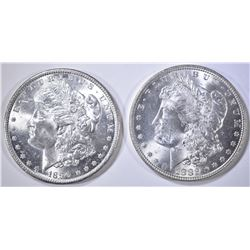 1882 & 1890 MORGAN DOLLARS CH BU