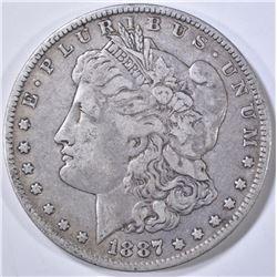 1887/6-O MORGAN DOLLAR VF