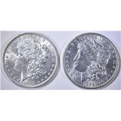 1888-O & 1896 MORGAN DOLLARS CH BU