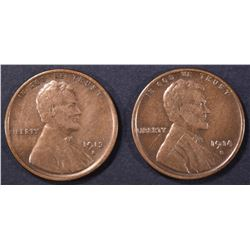 1913-S & 14-S LINCOLN CENTS VF