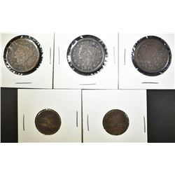 LOT OF 5 MIXED CENTS: