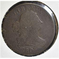 1808 DRAPED BUST HALF CENT  GOOD