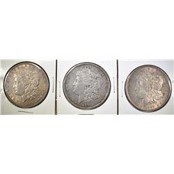 3 MORGAN DOLLAR LOT: