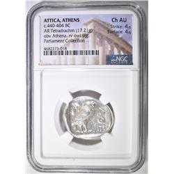 440-404 BC TETRADRACHM  ATTICA, ATHENS