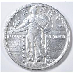 1917 TYPE 2 STANDING LIBERTY QUARTER  AU/BU
