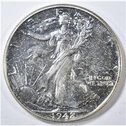 1942 WALKING LIBERTY HALF DOLLAR  GEM PROOF