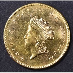 1854 $1 GOLD LIBERTY TYPE 2  CH BU