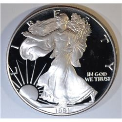 1991-S PROOF AMERICAN SILVER EAGLE