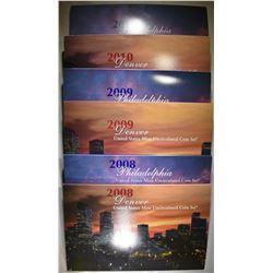 2008-2010 UNC MINT SETS