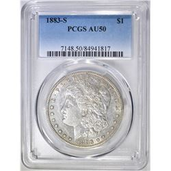 1883-S  MORGAN DOLLAR  PCGS AU-50